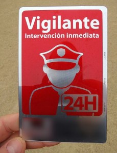 placa de seguridad privada